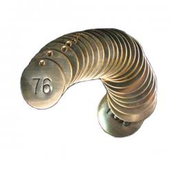1-3/4 inch brass industrial valve tags