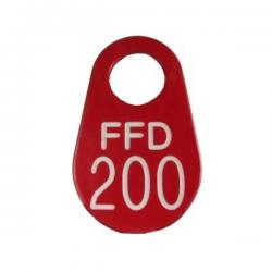 firefighter neck tag red