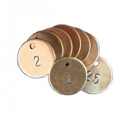 brass industrial valve tags