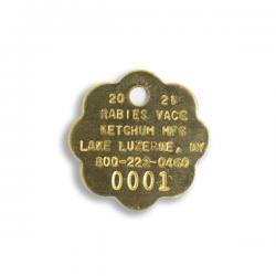 20201 Brass Rabies Tags