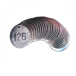 1-3/4 stainless steel industrial valve tags